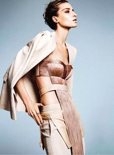 Txema Yeste shoots Linda Vojtova for the 'Nude Swings' editorial in the March 2011 issue of Marie Claire US.