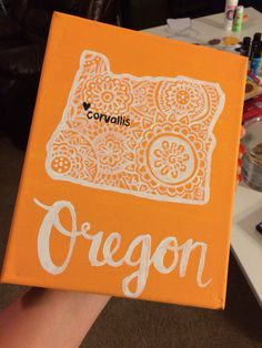 Oregon State University canvas painting