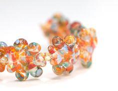 Lampwork Glass Beads Set Handmade Tangerine Tango by susansheehan, $24.00