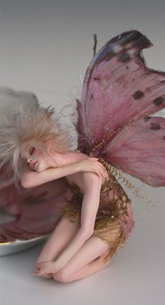 Tired Tinkerbell A Tea Cup Faerie OOAK by Nicole West | eBay
