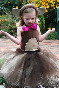 A Homemade Monkey Tutu Costume...add wings and turn into a flying monkey?
