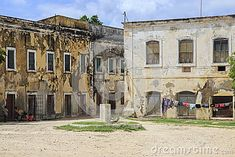 The Island of Mozambique (Portuguese: Ilha de Moçambique) lies off northern Mozambique, between the Mozambique Channel and Mossuril Bay, and is part of Nampula Province Old Building, Portuguese, Channel, Street View, Boat, Island, Stock Photos, Landscape, Image