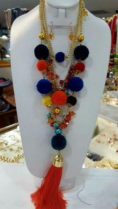 Fabric Jewelry, Boho Jewelry, Jewelry Art, Jewelery, Fashion Jewelry, Jewelry Design, Handmade Accessories, Handmade Jewelry, Mexican Crafts
