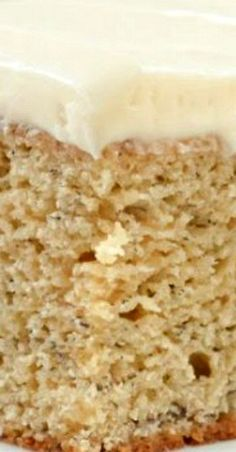 Easy to make Banana Cake recipe with a lightly sweetened Cream Cheese Frosting from Serena Bakes Simply From Scratch. Best Cake Recipes, Fruit Recipes, Cupcake Recipes, Cupcake Cakes, Cupcakes, Favorite Recipes, Cake With Cream Cheese, Cream Cheese Frosting, Pecan Cobbler