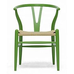 Mid-Century Modern Green Wood Y Wishbone Chair | Overstock.com $143