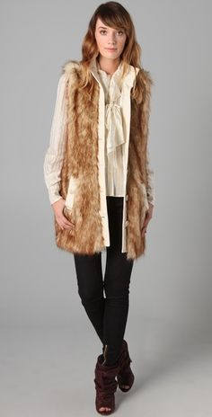 Rachel Zoe fur vest. Just received mine in the mail and I couldn't be happier. Must have for every girl.