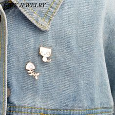 Arts,crafts & Sewing Steady 1 Pcs Cartoon Cute Animal Cat Rabbit Metal Brooch Button Pins Denim Jacket Pin Jewelry Decoration Badge For Clothes Lapel Pins Apparel Sewing & Fabric