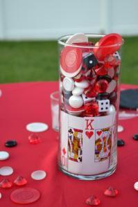 Surprise party birthday party ideas vegas theme pinterest casino themed centerpieces junglespirit Images