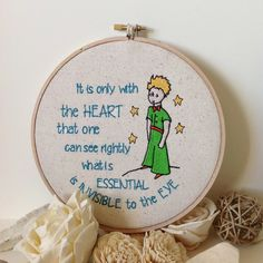 Embroidered Wall Decor. Le Petit Prince. The Little by BABYTEMBO £12.43