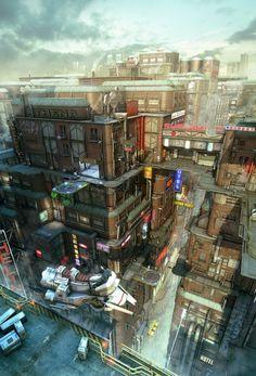 Футуристические Пейзажи Городов | Vanilladesign.ru