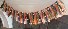 FREE SHIPPING Rag Shabby Chic Boho Fabric Banner by Rags2Treasures
