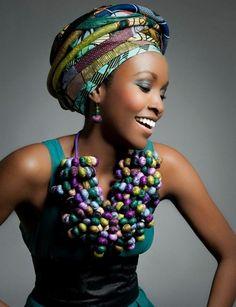 Necklace   Toubab Paris (Designer Maud Villaret). Jewellery made predominately from West African textiles