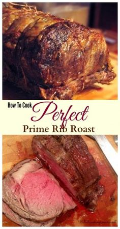 How To Cook Perfect Prime Rib Roast - Purchasing, Prepping, Cooking Temp Charts, Carving & Side Dishes! this is the ultimate info on Prime rib roast Rib Recipes, Cooking Recipes, What's Cooking, Recipies, Dinner Recipes, Christmas Friends, Perfect Prime Rib, Prime Rib Roast, Beef Dishes