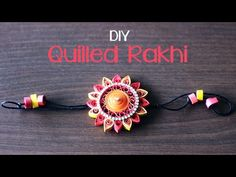 Handmade Rakhi is one of the best gifts that you can give your brother. He will treasure it forever! Check out this video to know how to make a quilled rakhi. Quilling Comb, Paper Quilling Jewelry, Neli Quilling, Quilling Paper Craft, Paper Crafting, Quilling Patterns, Quilling Designs, Quilling Ideas, Quilling Rakhi