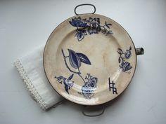 antique  Warming Dish/ plate authentic by SaffronColoredPony