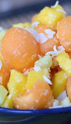 Tropical Cantaloupe Salad