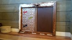 DIY: Half Chalk Board/Magnet Board. Made From Reclaimed Window.