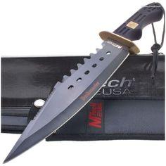 MTech MT-2010 Bushmaster Bowie Knife w/ Sheath Sawback   MooseCreekGear.com   Outdoor Gear — Worldwide Delivery!   Pocket Knives - Fixed Blade Knives - Folding Knives - Survival Gear - Tactical Gear