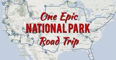 Have you ever dreamed about leaving everything behind and setting out on epic National Park road trip across the entire United States? Here's how to do it.