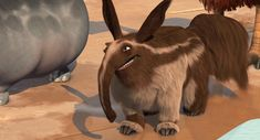 """Aardvark from one of the """"Ice Age"""" movies."""