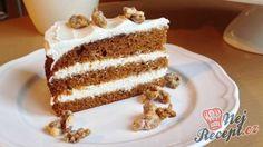 Dort z karamelizovaných banánů Red Velvet, Vanilla Cake, Baked Goods, Tiramisu, Cake Recipes, Cheesecake, Food And Drink, Low Carb, Sweets