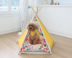But I could totally make that! Pet house  pet tent  dog house small indian tent by goodhapy, $70.00