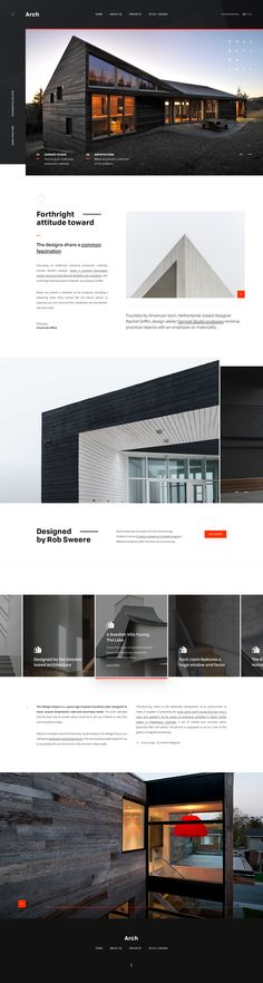 This time we are sharing awesome, creative, beautiful and best architecture website designs. Real Estate Website Design, Interior Design Website, Website Design Layout, Web Layout, Layout Design, Website Designs, Website Ideas, Mobile Web Design, Web Ui Design