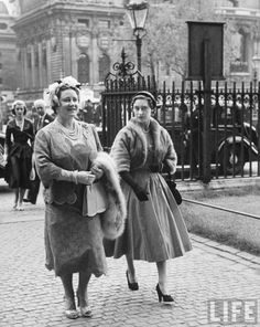 The Queen Mother and Princess Margaret, June 1, 1954