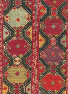 Embroidered Sharisabs belt, detail - Central Asia, 2nd half of 19th century.