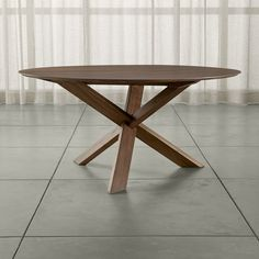 "Apex 64"" Round Dining Table - Crate and Barrel"