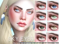 Eyes in 30 colors, all ages and genders. Found in TSR Category 'Sims 4 Eye Colors' Sims 4 Mods Clothes, Sims 4 Clothing, Sims Mods, Hot Clothes, Sims 4 Cas, My Sims, Sims Cc, Sims 4 Cc Eyes, Sims 4 Cc Skin