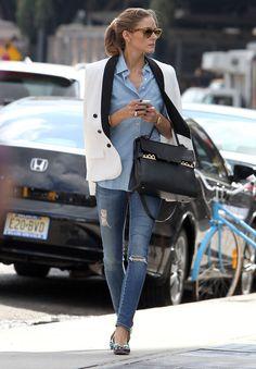 Olivia Palermo en mode 100% denim