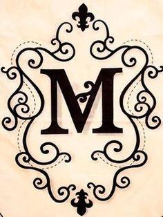 1587 Best M Images M Letter Letters Drop Cap
