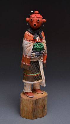 Mudhead Maiden Kachina Doll by Anthony Briones (Hopi)