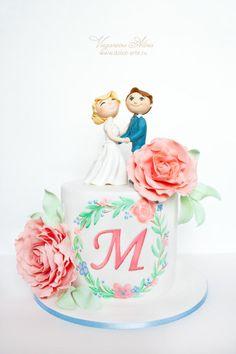 wedding cake with bride and groom - Cake by Alina Vaganova