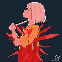 Sad Anime, Kawaii Anime, Anime Art, Dark Art Illustrations, Illustration Art, Art Sketches, Art Drawings, Drawings With Meaning, Sun Projects