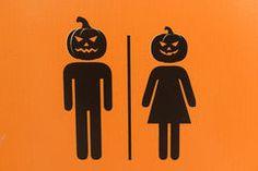 Image result for halloween restroom signs