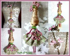 Doll brooch and necklace/ broche y collar de muñec von De la felicidad........ auf DaWanda.com