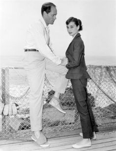 Audrey Hepburn and Mel Ferrer photographed in Malibu, 1956.