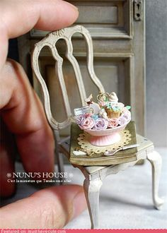 I'm not sure if there is a better manufacturer of miniatures out there than Nunu's House. Do you see the tiny cookie shaped like a bunny? DO YOU SEE IT?