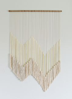 DIY Modern Gold Wall Hanging with Tassels  @  brittanyMakes