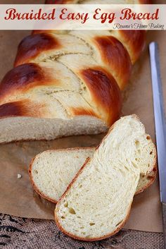 Braided easy egg bread - Pillow-y soft, enriched with both eggs and butter and slightly sweet