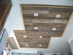 Picture of Inexpensive kitchen light upgrade, using pallet wood