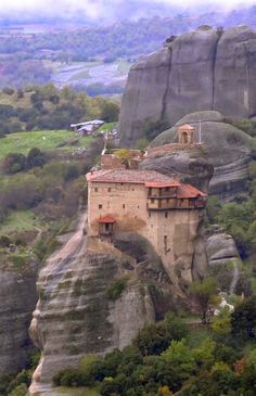 Meteora Monastery in Greece...visited this 32 years ago was amazing...had a room full of skulls of deceased priests.