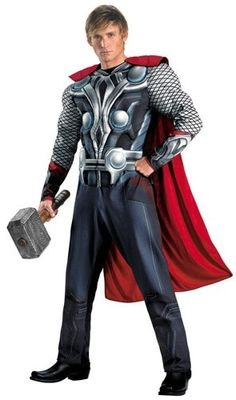 Plus Size Thor Costume! Brilliant detail any guy will love. #thorcostume #plussizemenscostumes #halloweencostumes