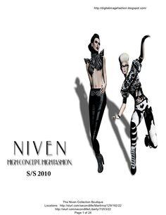 My digital virtual world fashion design lookbook = monochrome II 2010