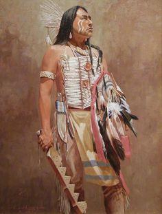 Illustration Peinture Amérindien