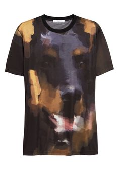 Interesting print by Givenchy | Dobermann print T-shirt | NET-A-PORTER.COM