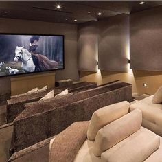 Cinema Room Small, Home Cinema Room, Home Theater Rooms, Street Marketing, Villas, Marketing Direct, Luxury Boat, Small Couch, Mansion Interior