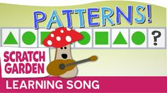 The Patterns Practice Song teaches basic pattern recognition. Watch this math for kids song and you will be learning patterns with colors, shapes and numbers. Patterning Kindergarten, Kindergarten Songs, Kindergarten Art Projects, Preschool Math, Math Classroom, Math Activities, Math Math, Teaching Patterns, Math Patterns